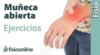 Ganglión de muñeca o muñecas abiertas. Tratamiento con ejercicios, auto masajes y estiramientos.