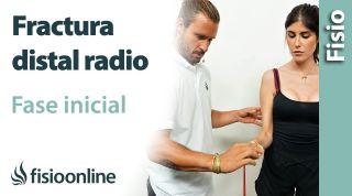 FRACTURA distal del RADIO, ejercicios fase INICIAL