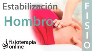Ejercicios de estabilización de hombro.
