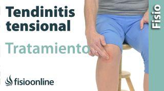 Tendinitis rotuliana. Tratamiento con ejercicios auto-masajes y estiramientos.