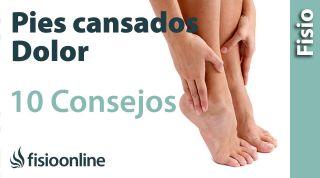 10 Consejos para el dolor de pies o pies cansados.
