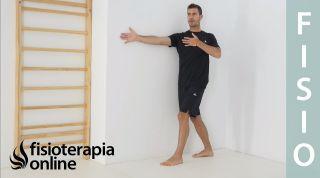 Ejercicio de prevención de lesiones en pared