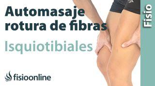 4.Auto-masaje para las roturas de fibras de los isquiotibiales.