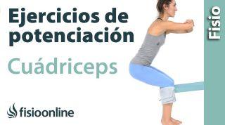 Ejercicio de potenciación o fortalecimiento excéntrico para el músculo cuádriceps