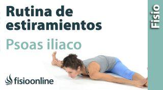16.Estiramiento del músculo psoas iliaco.