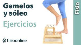 Ejercicio de potenciación o fortalecimiento excéntrico para los músculos gemelos y soleo.