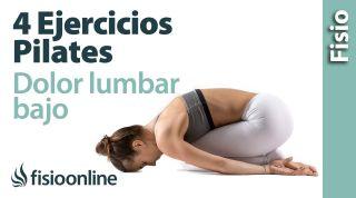 4 ejercicios de Pilates para dolor lumbar bajo