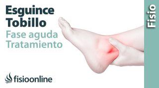 Esguince de tobillo grado 1, 2 (leve moderado)  Tratamiento en fase aguda o reciente.