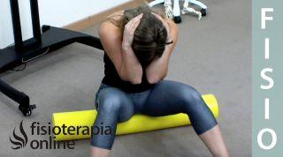 Espalda sana - Movilidad global de columna sentado sobre roller