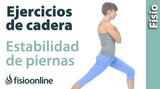 Ejercicio de elasticidad de cadera y fortalecimiento y estabilidad de piernas