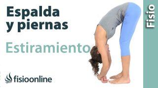 Fantástico ejercicio de estiramiento de espalda y piernas. Relaja todo tu cuerpo.