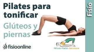 Pilates para tonificar glúeos y caderas