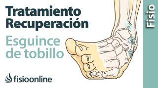 Tratamiento y recuperación de un esguince de tobillo.