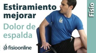 Estiramiento para aliviar el dolor de espalda Fácil de hacer