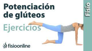 Rutina de ejercicios de potenciación o fortalecimiento para los músculos glúteos.