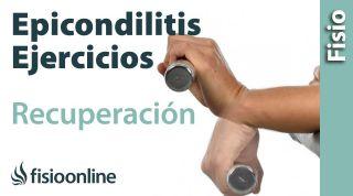 Ejercicios indicados para la epicondilitis o codo de tenista.