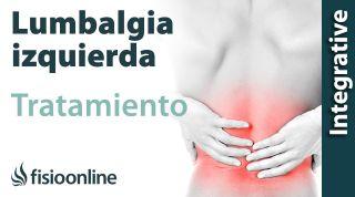 Tratamiento para el lumbago o lumbalgia izquierda