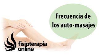 Frecuencia de los auto-masajes