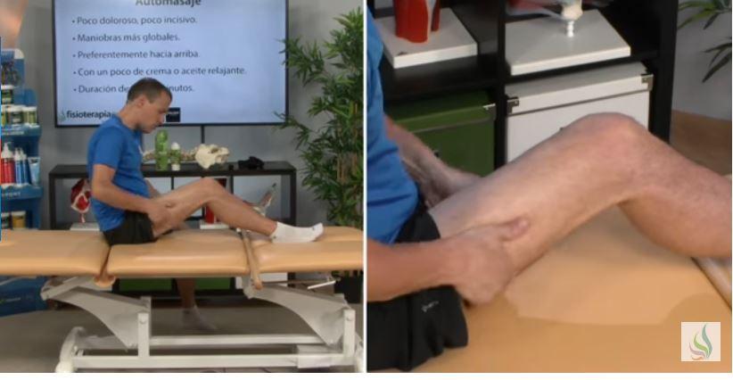 masaje de isquiotibiales